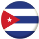 Cuba Country Flag 25mm Flat Back